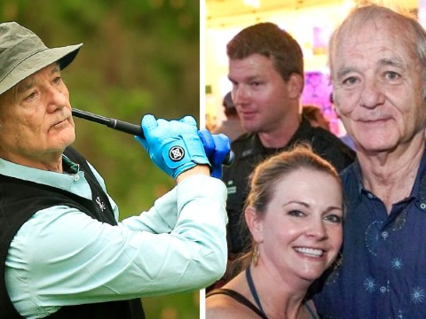 Bill Murray cuddles Melissa Joan Hart in sweet snap from Caddyshack golf tournament