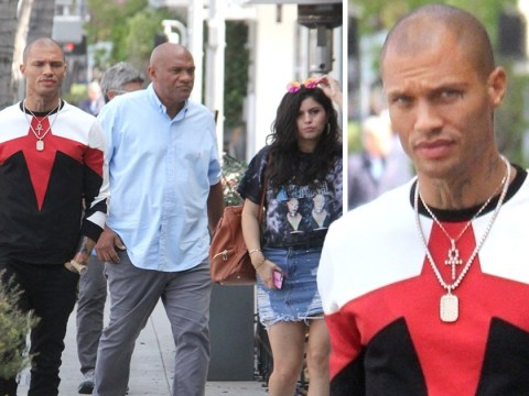 Jeremy Meeks looks a little stressed as Chloe Green 'ditches engagement ring' again