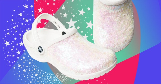 eca688aab Calling stylish brides  White sparkly wedding Crocs are now a thing