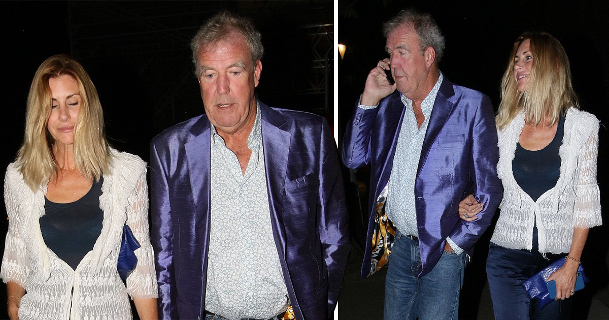 Jeremy Clarkson is quality street chic as he packs on the PDA