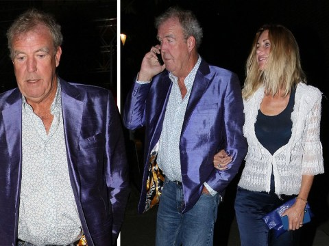 Jeremy Clarkson goes for Quality Street chic as he packs on PDA with girlfriend