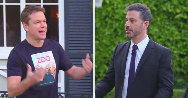 Jimmy Kimmel breaks Matt Damon's window