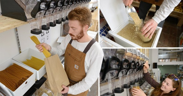 A new 'plastic-free' grocery has opened in Glasgow where customers bring their own packaging