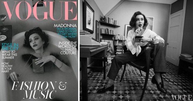 EMB MIDNIGHT: Madonna for British Vogue