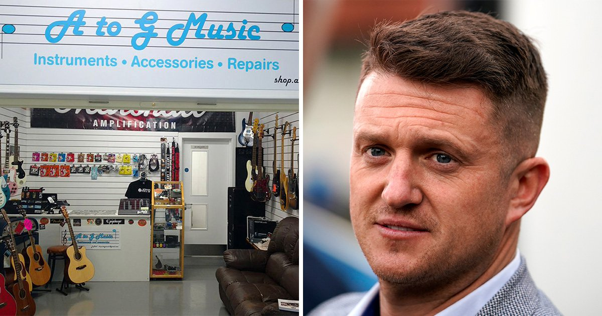 Music shop cashes in on people protesting Tommy Robinson with kazoos