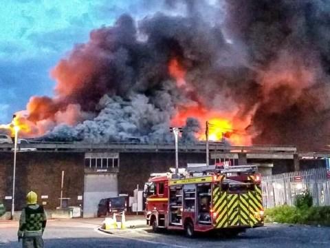 Dozens evacuated as huge fire breaks out in Bristol