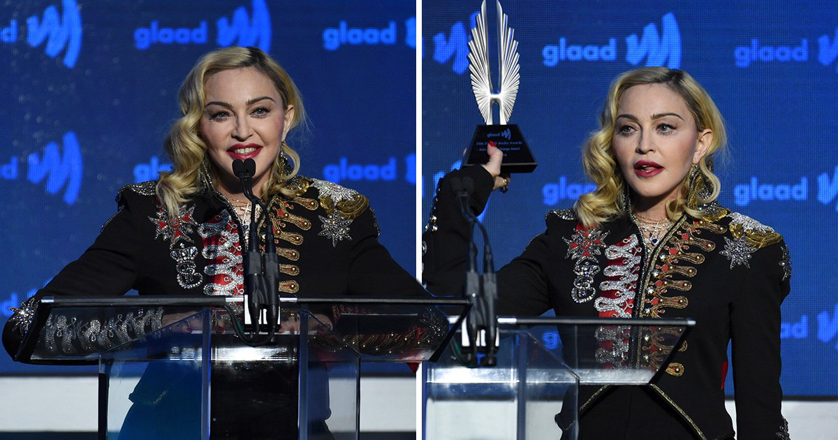 Madonna gets emotional at GLAAD awards as she delivers rousing Advocate For Change acceptance speech