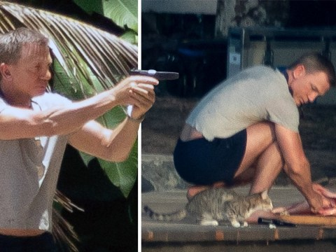 Daniel Craig seen on James Bond set toting gun and catching fish as latest film shoots in Jamaica