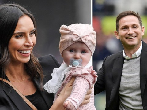 Christine Lampard's baby daughter cheers on dad Frank as she makes football match debut