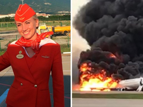 Air stewardess saved passengers from burning plane by 'throwing them out by their collars'