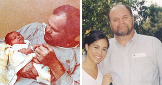 Image result for meghan markle and her dad