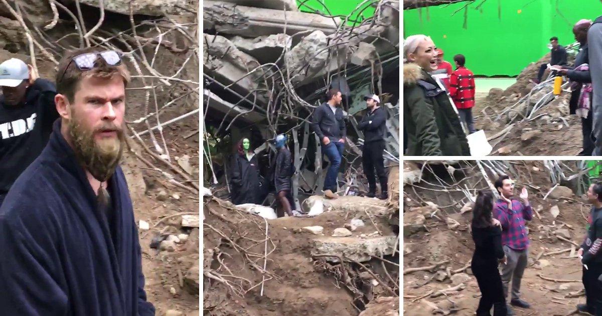 Avengers: Endgame behind a scenes