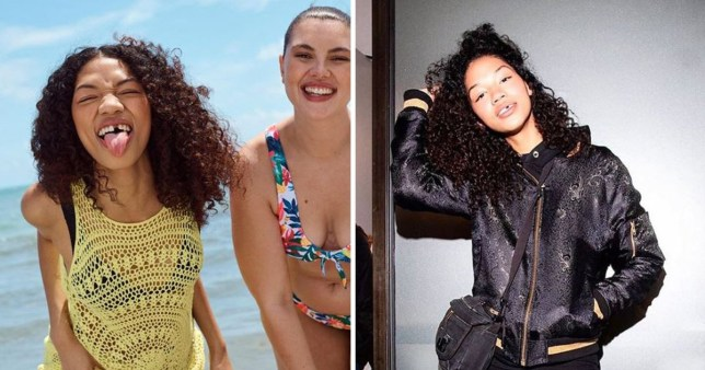 Symone Lu in the Primark campaign and Symone Lu's picture from Instagram