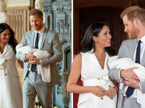 Royal baby: Harry's secret message for Meghan before facing the cameras with Baby Sussex