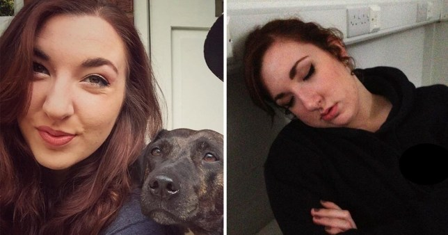 Lauren Murray with her dog Oscar suffers from chronic migraine
