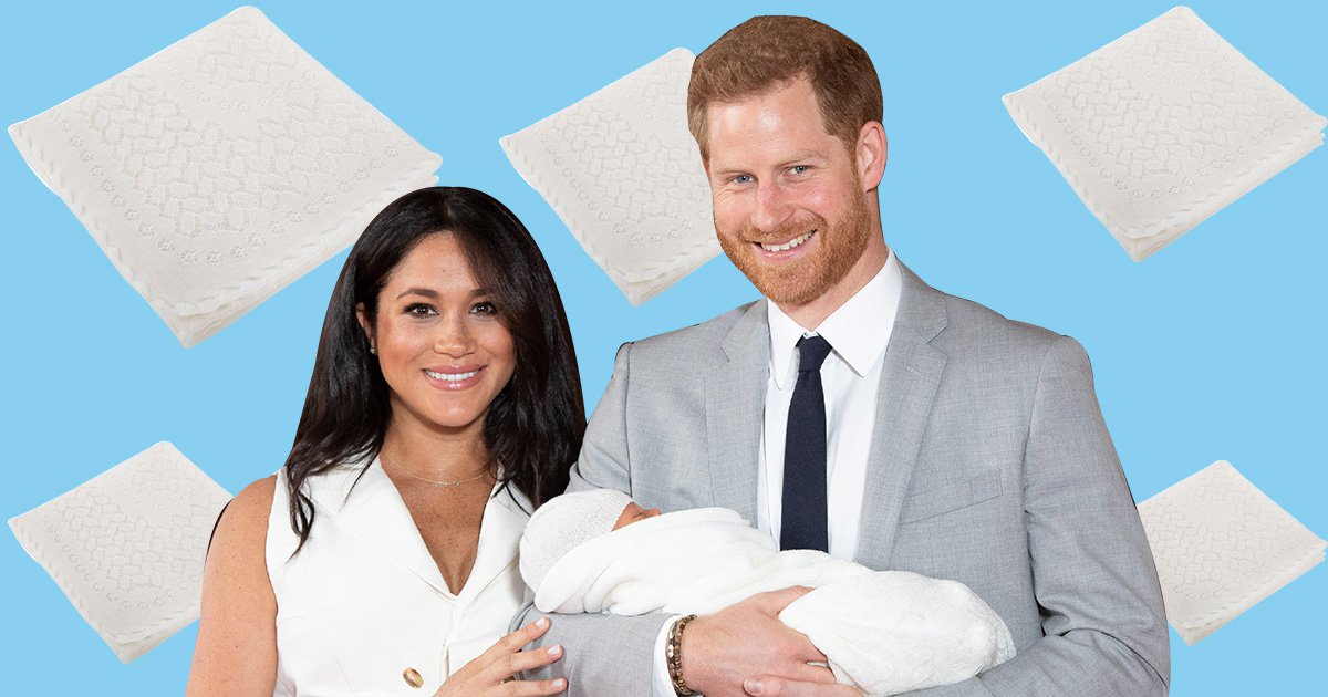 Where to get the shawl that Meghan and Harry wrapped baby Archie in