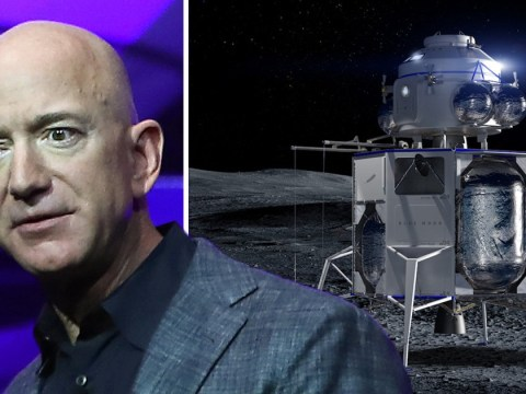 Jeff Bezos reveals Blue Origin's moon lander and it's the size of a house