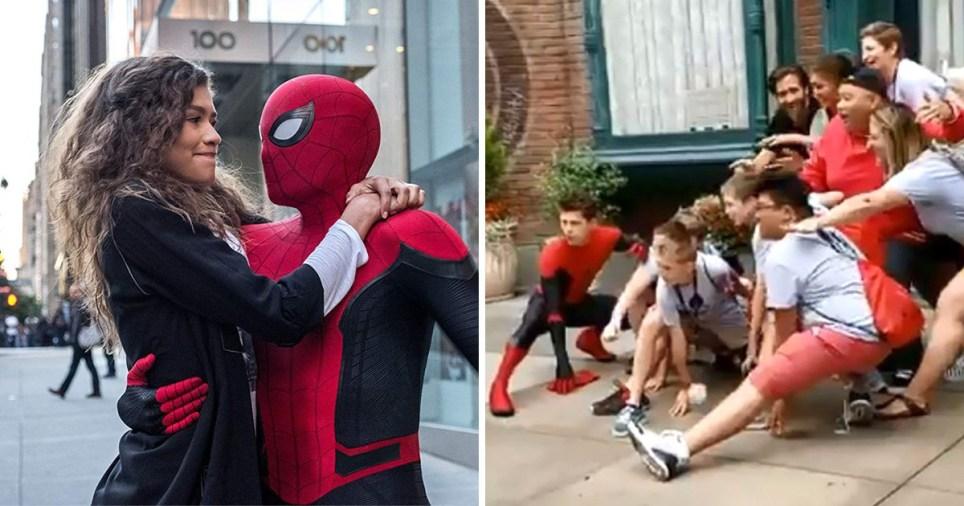 Spider-Man cast at Disneyland