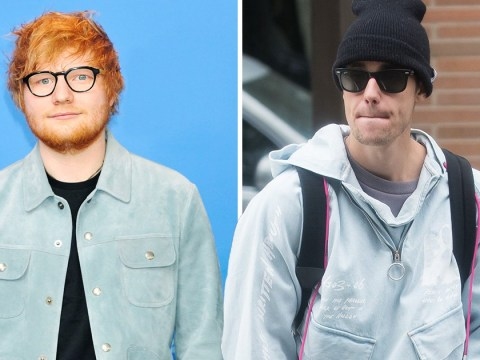 Have Justin Bieber and Ed Sheeran made music together before?