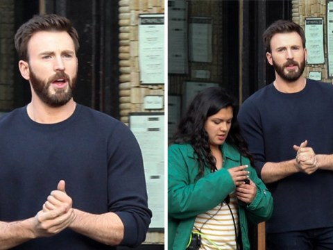 Chris Evans hangs up his Captain America shield but the beard is back