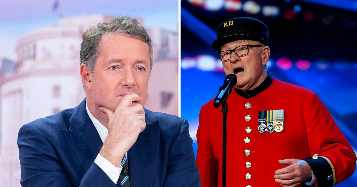 Piers Morgan reduced to tears by 89-year-old Chelsea pensioner's Britain's Got Talent audition in tribute to his late wife