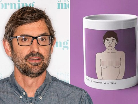 Louis Theroux has 'so many emotions' after finding coffee mug of his body with boobs