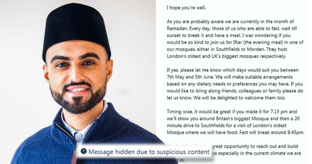Sabah Ahmedi's wants to know why his message was flagged up as 'suspicious' by Twitter (Picture: Sabah Ahmedi)