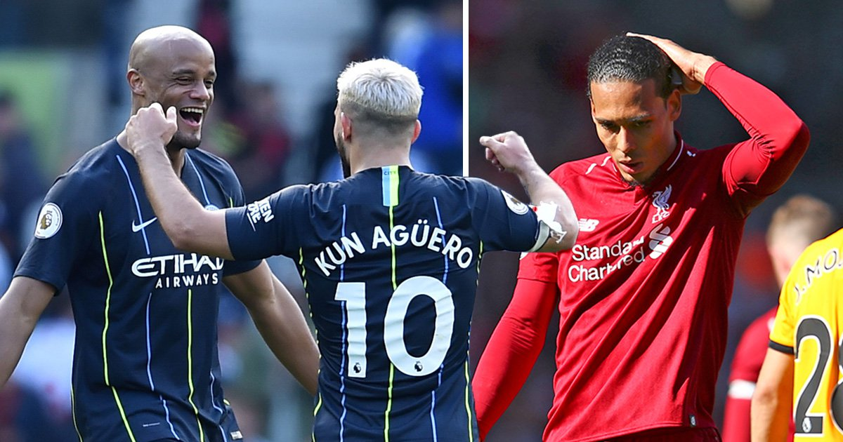 Rampant Manchester City crush Brighton and pip Liverpool to Premier League title