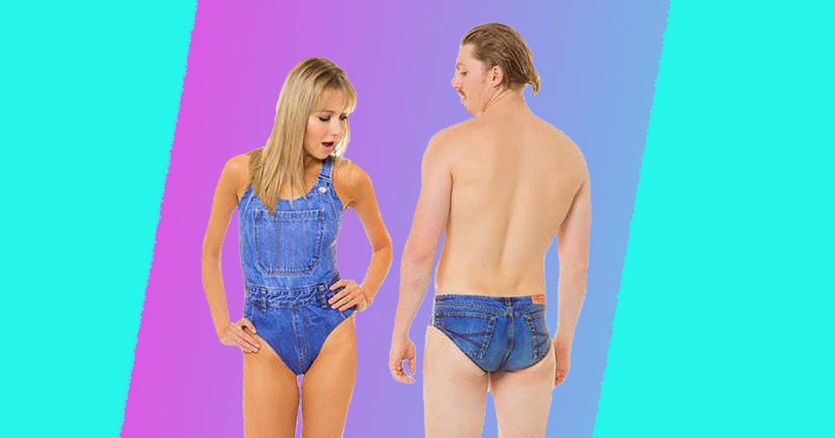 Swimsuits LUJ.CO | Denim swimsuit