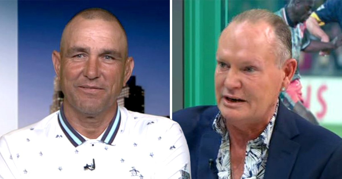 Vinnie Jones reveals why he grabbed Paul Gascoigne's crotch as pair reunite for tour