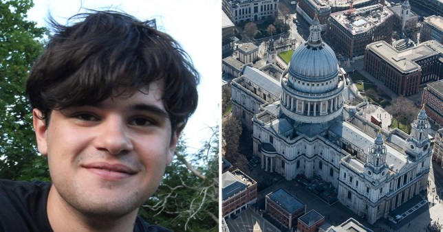 James Jorge De Sousa Stayton, 19, jumped from the Whispering Gallery at St Paul's Cathedral