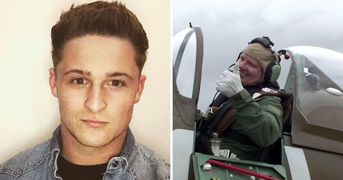 """A teenager saved from a burning plane has thanked hero passers-by who pulled his family to safety - and declared: """"We are very lucky people"""". Soccer fan Jack Moore, 19, was flying in the plane with sister Billie Manley, 16, and pilot uncle Stuart Moore when disaster struck on their way to see Manchester United play. The light aircraft hit overhead power cables - and the plane burst into flames when it attempted an emergency landing on a busy road. Pilot Stuart had taken off from Abergavenny Airfield in South Wales to fly to Old Trafford to see Cardiff City face Manchester United. Pictured is Stuart Moore"""
