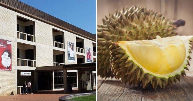 Uni evacuated because of smelly fruit