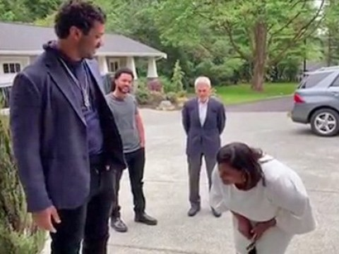 Ciara and Russell Wilson leave his mum sobbing in emotional video as they surprise her with house