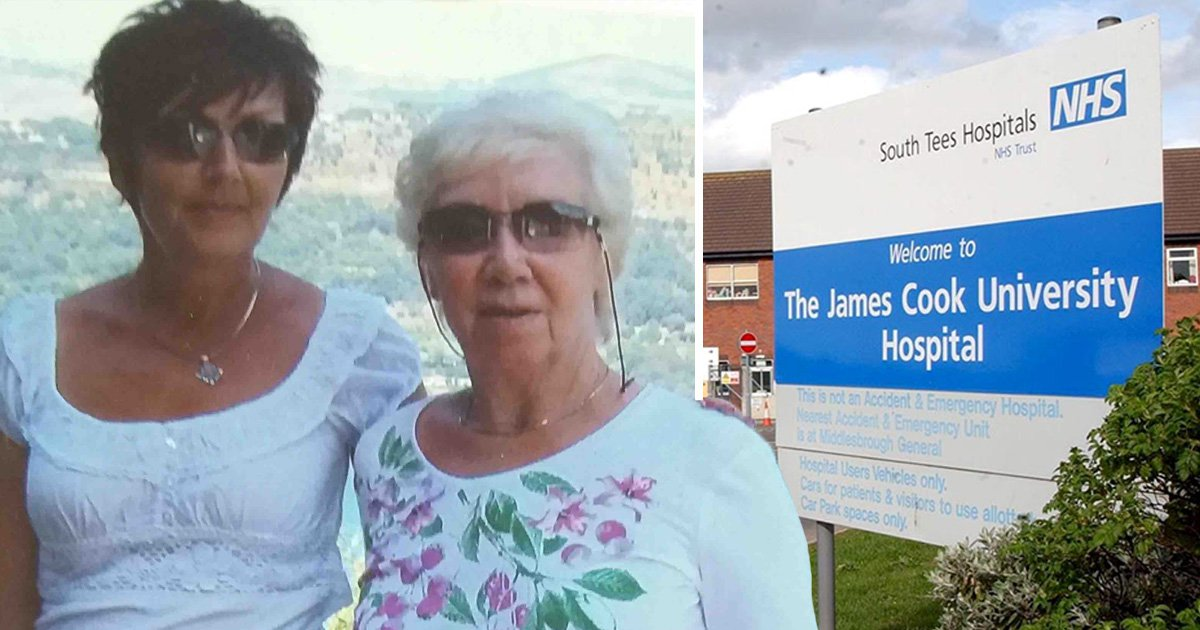 A daughter has said her mother died after doctors told her everything was 'fine'