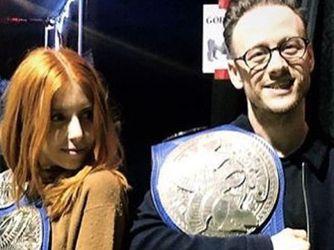 Stacey Dooley and Kevin Clifton mess around backstage at WWE after 'moving in together'