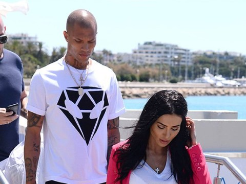 Jeremy Meeks arrives at Cannes with mystery woman after Chloe Green ditches 'engagement ring'