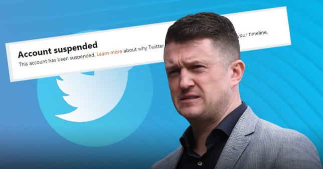 An account appearing to belong to Tommy Robinson was suspended within a matter of hours by Twitter