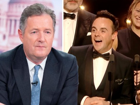 Piers Morgan slams Ant McPartlin for accepting Bafta TV Award