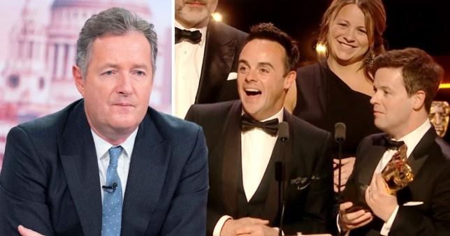 Piers Morgan and Ant McPartlin at the Bafta TV Awards