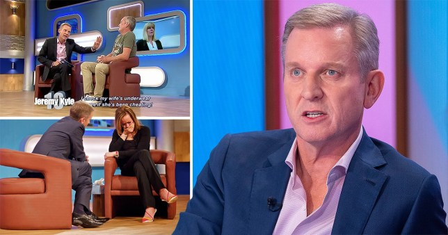 Jeremy Kyle Show- star next to screen grabs of him appearing on the series with guests