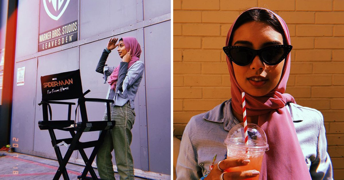 Actress Zoha Rahman on a set of Marvel's Spider-Man: Far From Home