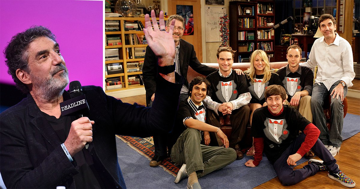 Chuck Lorre and the cast of the Big Bang Theoyr