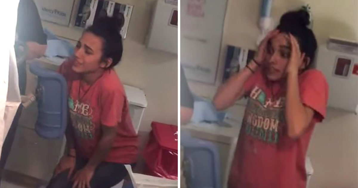 15-year-old girl watches sister give birth and her reaction is priceless