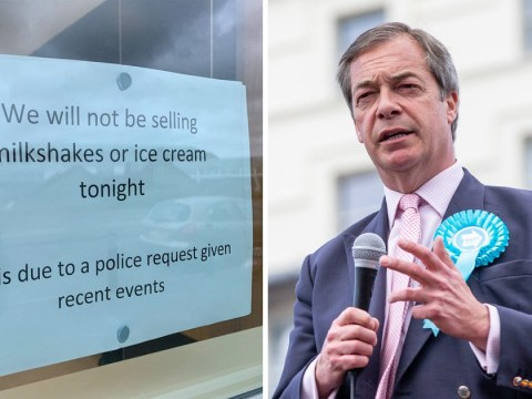 Police ask McDonald's to stop selling milkshakes during Farage rally