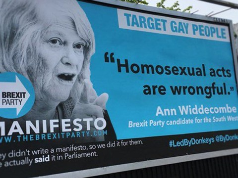 Anti-Brexit poster showing 'homophobic' Ann Widdecombe quote will be removed