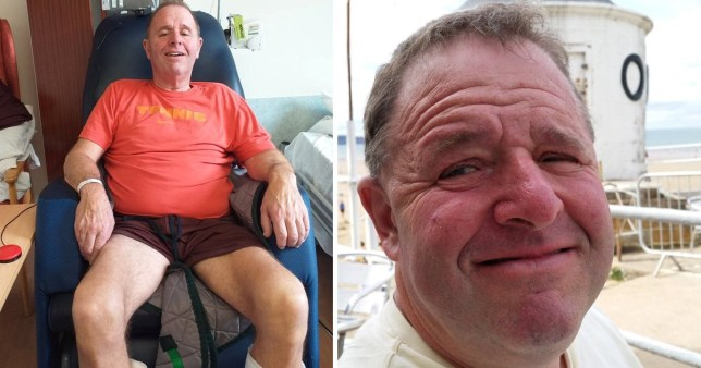 Charles Jackson, 66, was rushed to hospital in December, where medics diagnosed him with Guilliain-Barre syndrome