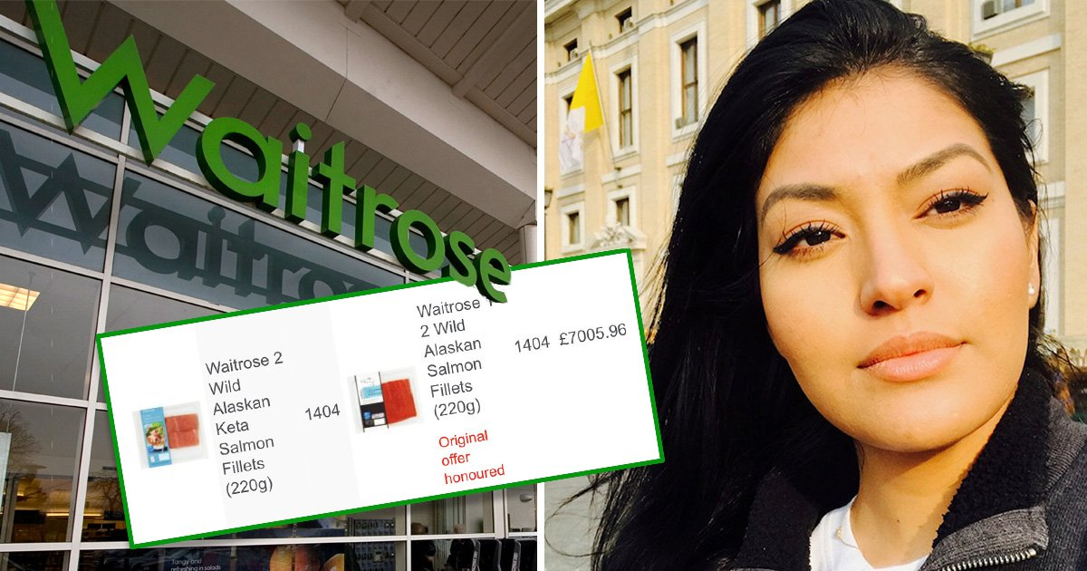Woman charged £4,600 after Waitrose added 3,000 fillets of salmon to her order by mistake
