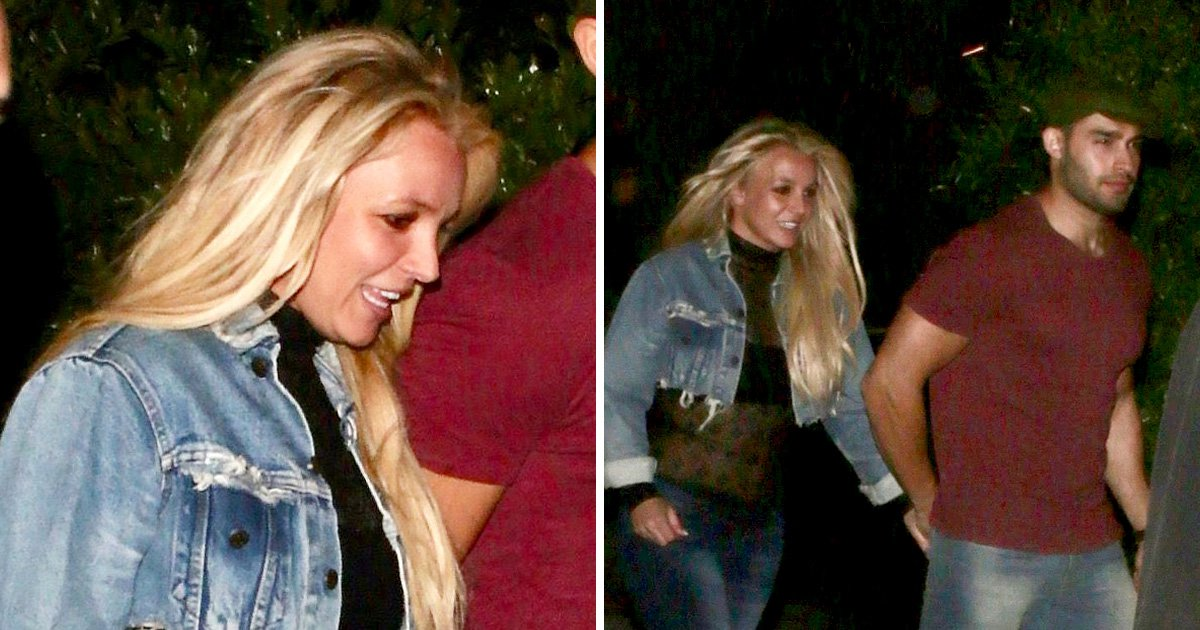 Britney Spears beams as she puts recent drama behind her on date night