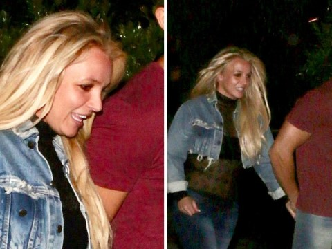 Britney Spears beams as she puts recent court drama behind her on date night